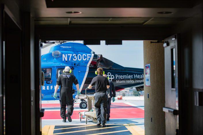 Kelly Ann Photography Commercial Dayton Cincinnati Ohio medical Helipad Careflight EMT helicopter