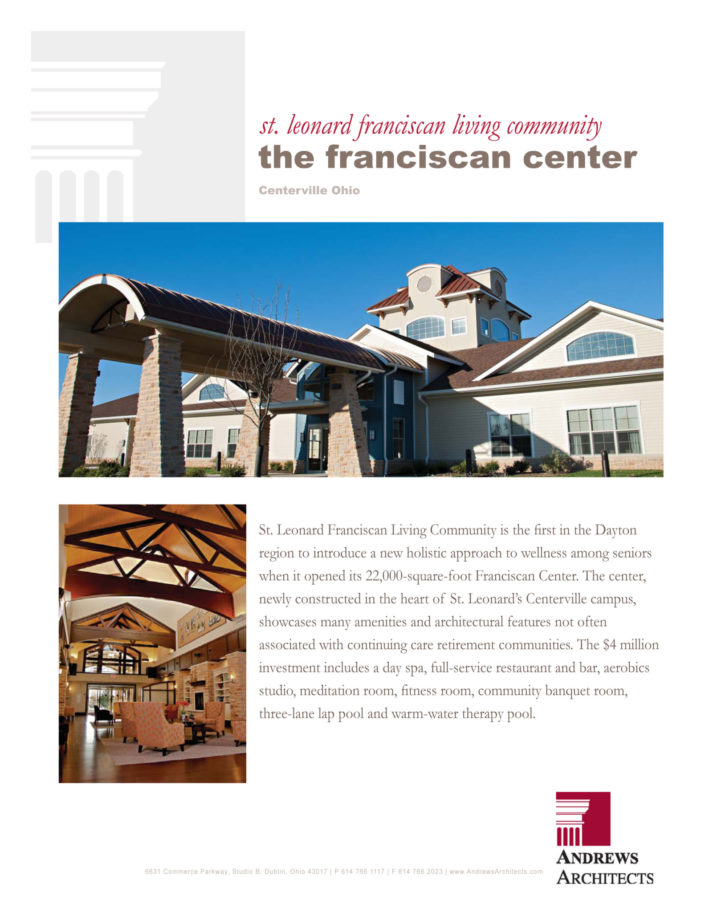 Project Completion - Franciscan Center - Kelly.indd
