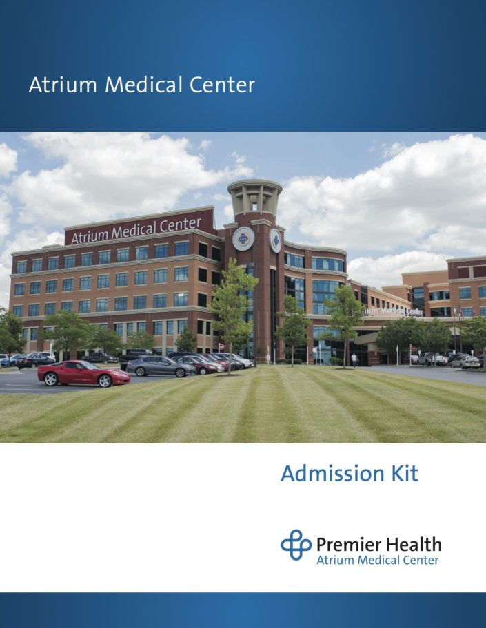Kelly Ann Photography Commercial Dayton Cincinnati Ohio tear sheets Premier Health Atrium Medical center Architectual exterior brochure