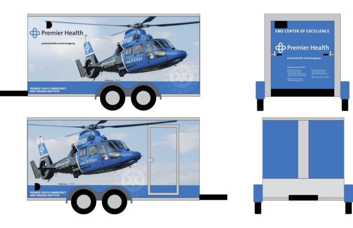 Kelly Ann Photography Commercial Dayton Cincinnati Ohio tear sheets Premier Health trailor wrap published careflight